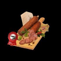 plaiul foii venison raw dried salami