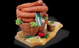 Smoked home sausages
